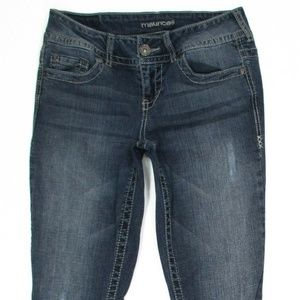 Maurices Womens Jeans Skinny Size 3/4 Reg Stretch